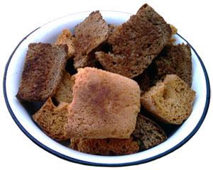 Сухари ассорти из белого и ржаного хлеба